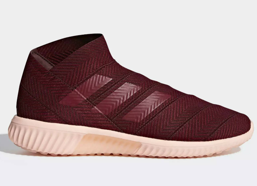 Adidas Nemeziz Tango 18.1 Cold Mode Trainers - Maroon / Collegiate Burgundy / Clear Orange