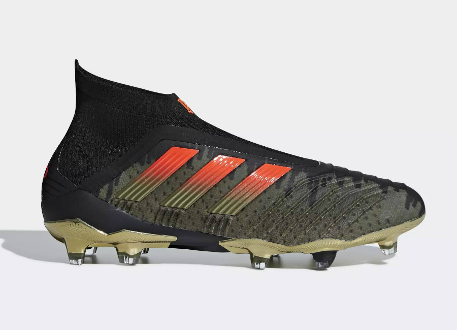 Adidas Paul Pogba Predator 18+ Firm Ground Boots - Olive Cargo / Core Black / Base Green