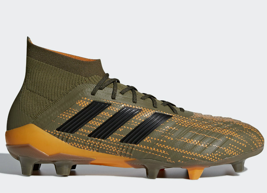 Adidas Predator 18.1 Lone Hunter FG - Trace Olive / Core Black / Bright Orange