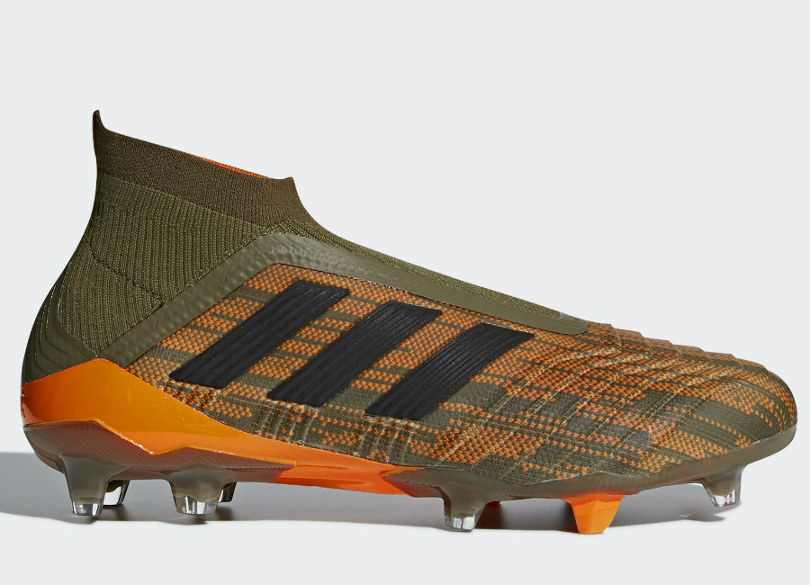 buy popular 39625 f40e8 Adidas Predator 18+ Lone Hunter FG - Trace Olive   Core Black   Bright  Orange