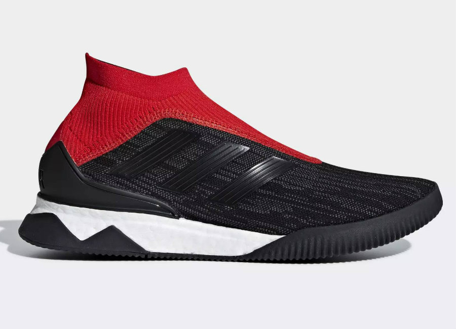 Adidas Predator Tango 18+ Shoes - Core Black / Core Black / Red