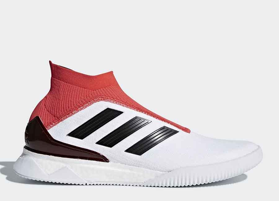 Adidas Predator Tango 18+ Trainers - Ftwr White / Core Black / Real Coral