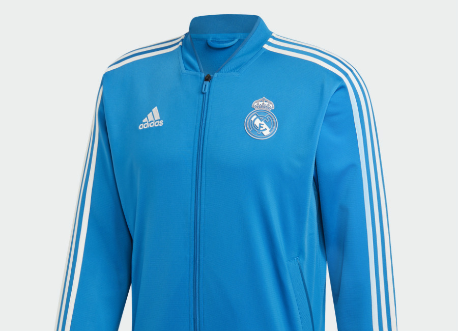Adidas Real Madrid Polyester Jacket - Craft Blue / Core White
