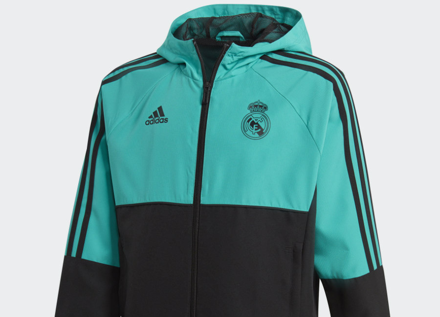 Adidas Real Madrid Presentation Jacket - Aero Reef / Black