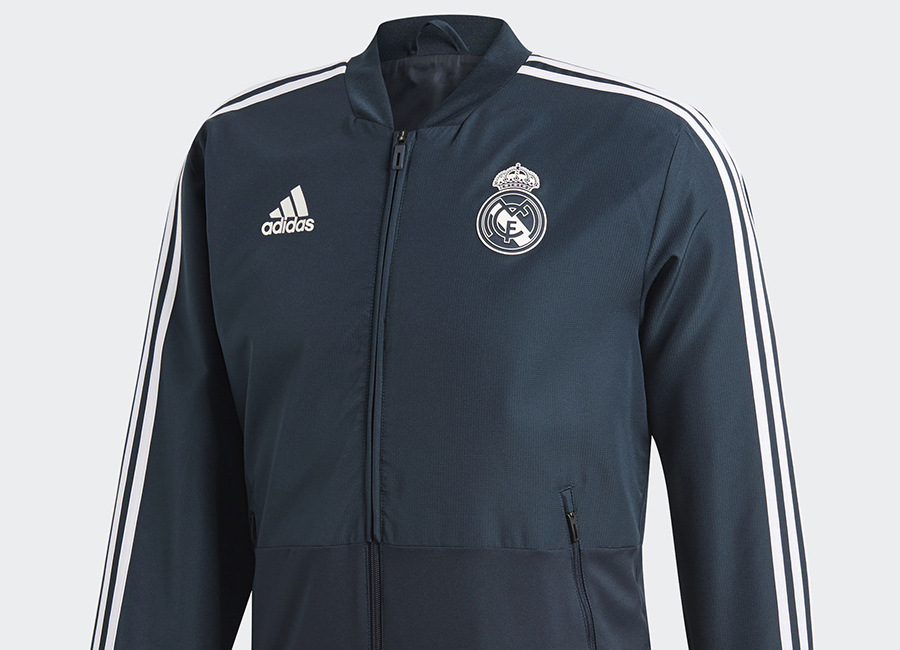 Adidas Real Madrid Presentation Jacket - Blue / Black / Core White