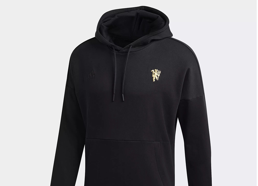 finest selection 7230c 23ec3 Adidas Seasonal Special Manchester United Hoodie - Black ...