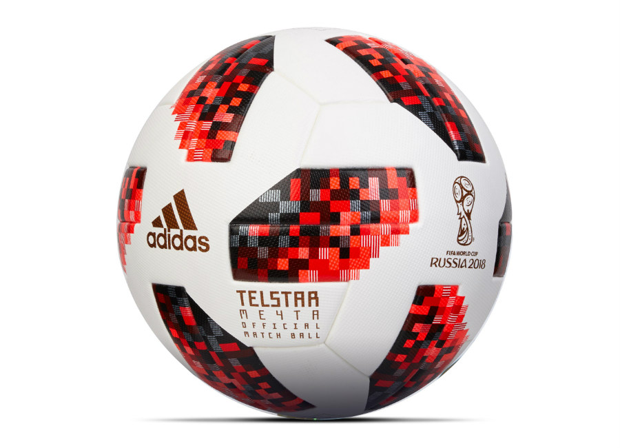 Adidas Telstar Mechta WC 2018 Knockout Official Match Ball - White / Solar Red / Black