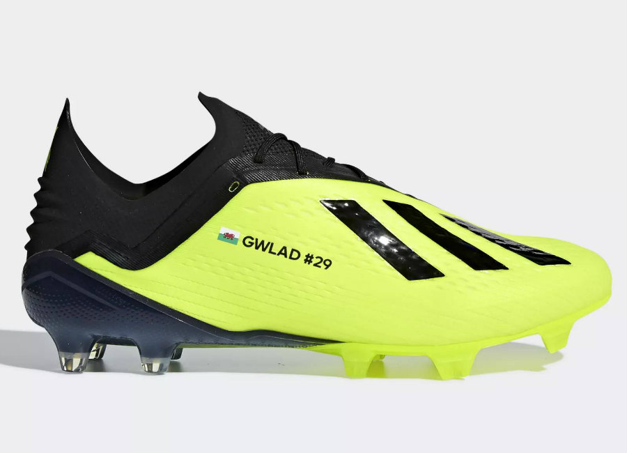 Adidas X18.1 Firm Ground Gareth Bale Boots - Solar Yellow / Core Black / Ftwr White