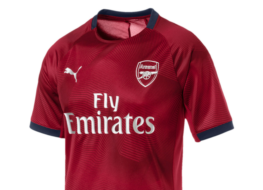 Arsenal 2018-19 Puma Graphic Jersey - Chili Pepper / Peacoat