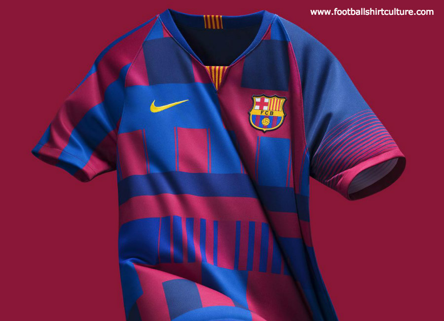 Barcelona x Nike 20th Anniversary Mash-Up Jersey
