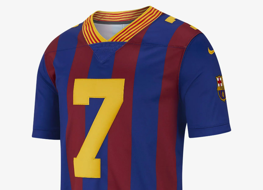new concept 3fe13 197fe Barcelona NFL Nike Limited Jersey - Deep Royal / Noble Red ...