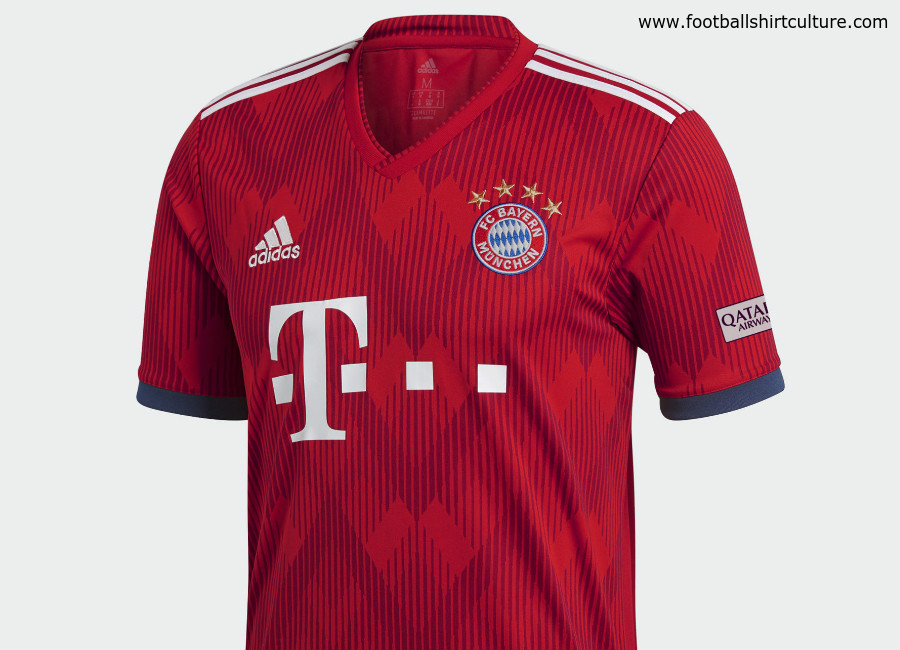 966045f7185 Bayern Munich 18 19 Adidas Home Kit