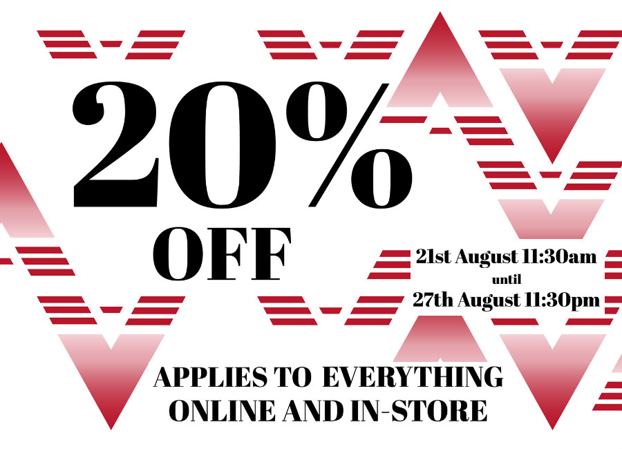 20% Off Everything! Online and In-store