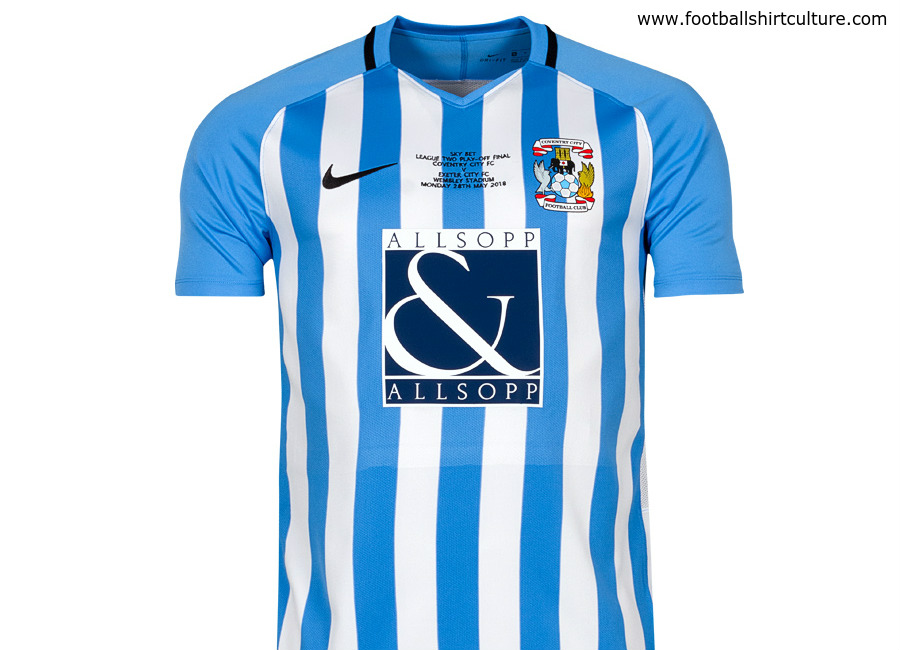 c37dd6eaa7d Coventry City 17 18 Nike EFL Play-Off Final Shirt