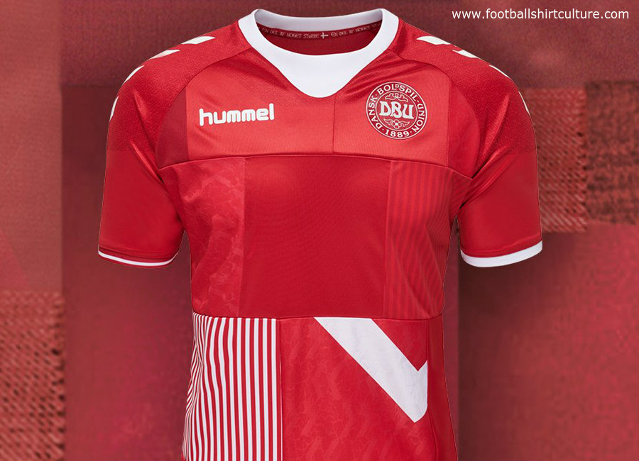 Denmark 2018 Hummel Made by Denmark Shirts