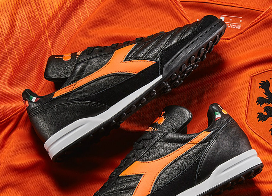 Diadora Golden Boy TF Marco van Basten - Black / Fluo Orange