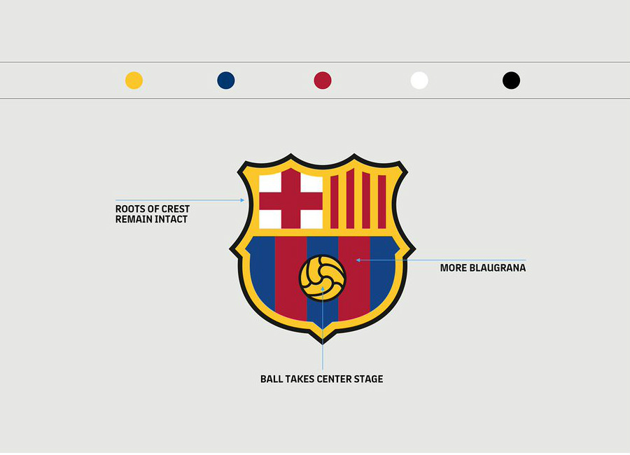 FC Barcelona Modernises its Crest