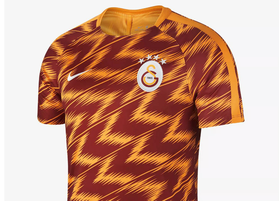 Galatasaray S.K. Dri-FIT Squad Nike Football Top - Vivid Orange / Vivid Orange / White