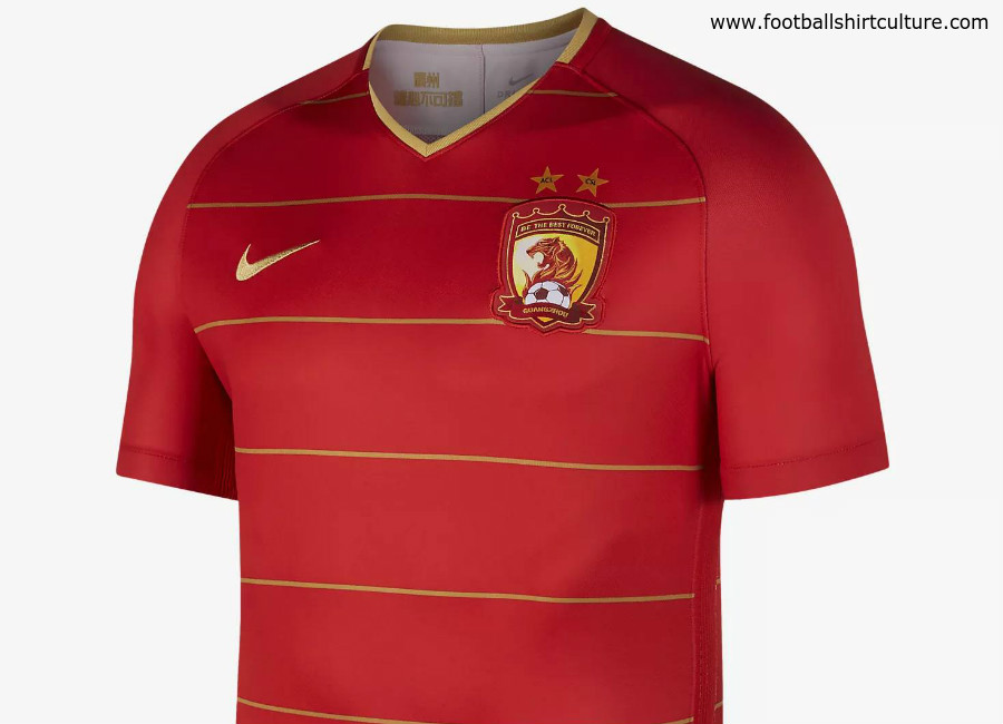 Guangzhou Evergrande 2018/19 Nike Home Kit