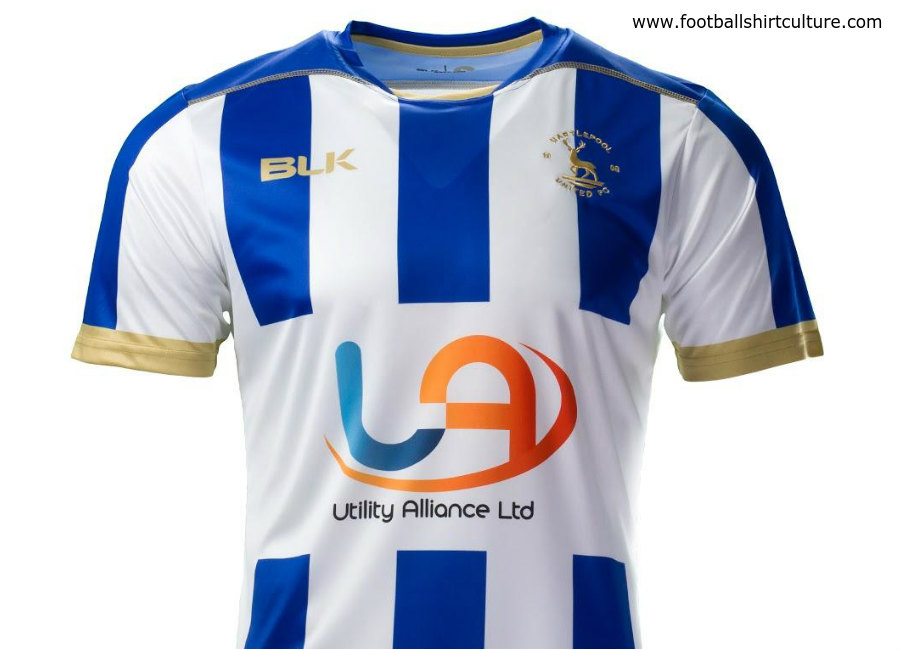 Hartlepool United 2018-19 BLK Home Kit