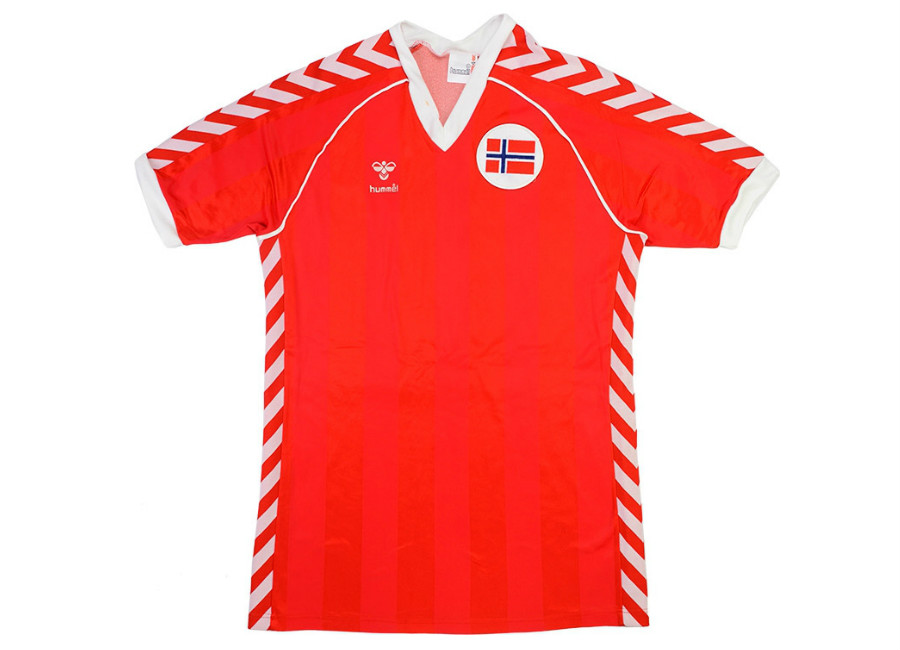 Hummel 1985 Norway Match Worn Home Shirt