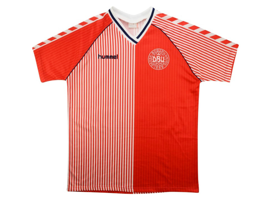 Hummel 1986 Denmark Match Issue Home Shirt