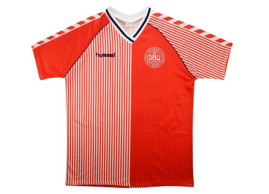 Hummel 1986 Denmark Match Issue Home Shirt