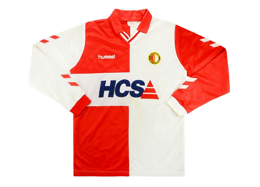 Hummel 1989-91 Feyenoord Match Issue Home Shirt