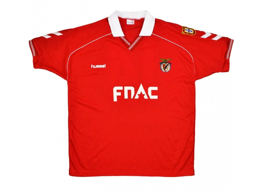 Hummel 1991-92 Benfica Match Worn European Cup Home Shirt