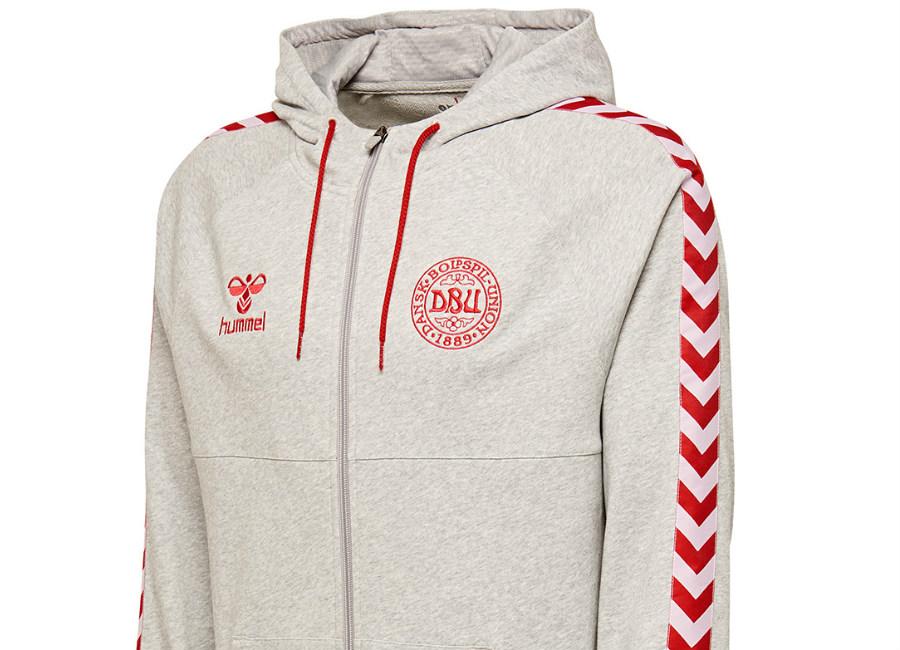 44dedc496 Hummel Denmark 2018 DFA Zip-Up hoodie - Grey Melange. Classic Shirts