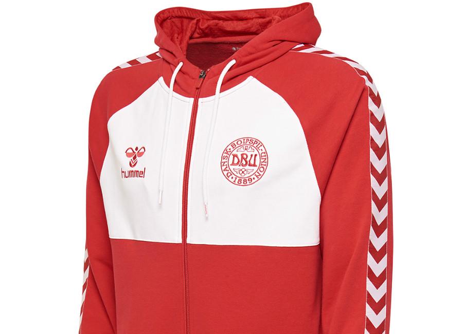 Hummel Denmark 2018 DFA Zip-Up hoodie - Tango Red