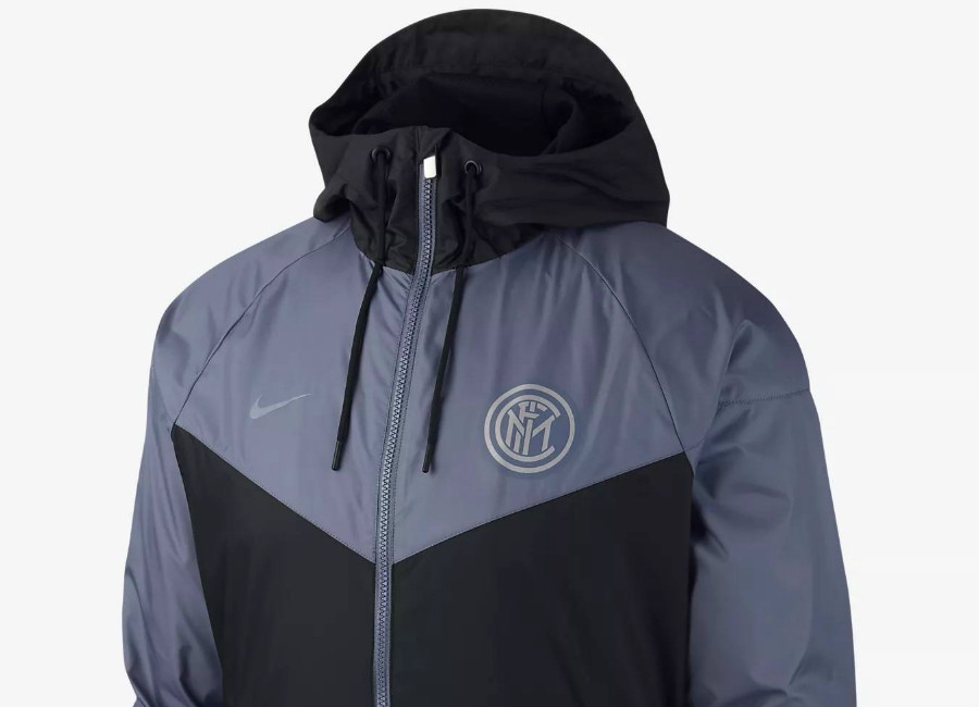 Inter Milan 2018-19 Nike Windrunner - Black / Diffused Blue
