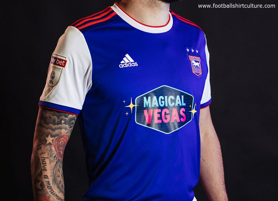 Ipswich Town 2018-19 Adidas Home Kit