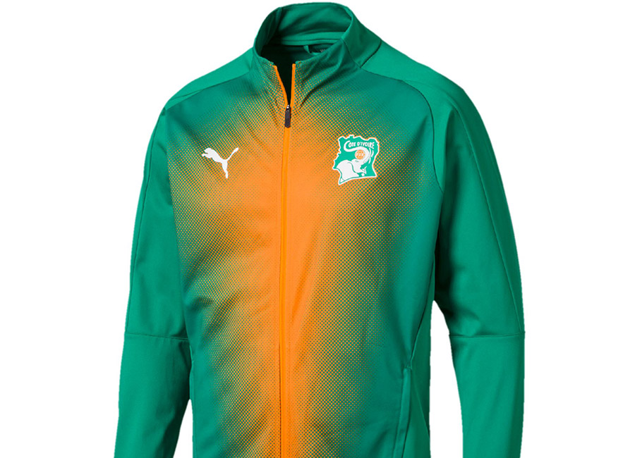Ivory Coast 2018 Puma Stadium Jacket - Pepper Green / Pepper Green