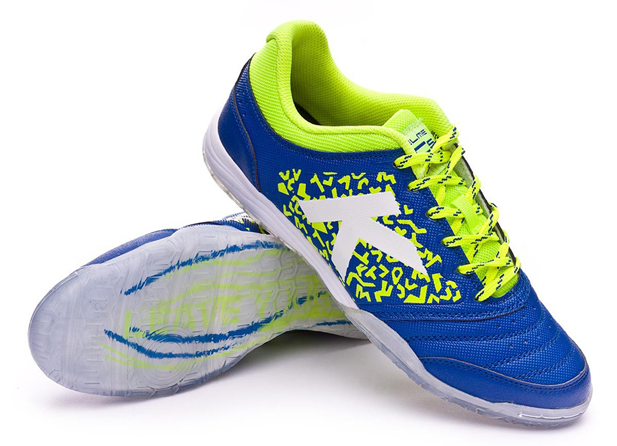 Kelme Subito 6.0 Shoes - Electric Blue / Fluor Yellow