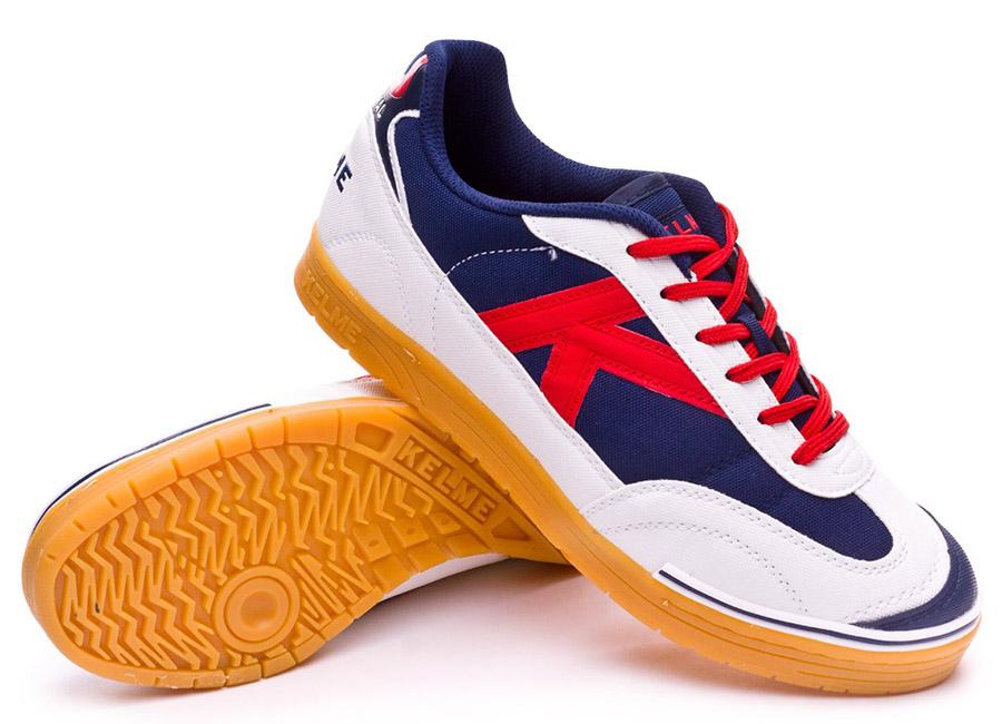 Kelme Trueno Sala 2.0 Shoes - White / Marino