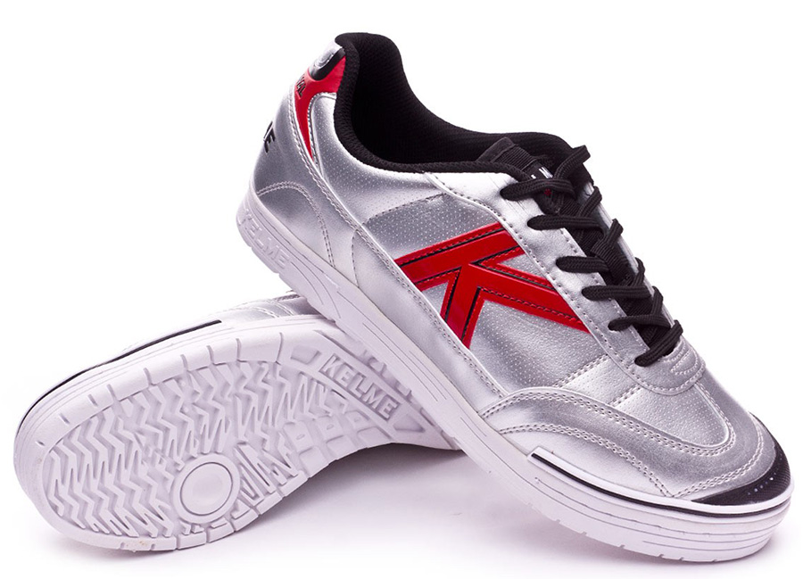 Kelme Trueno Sala S Shoes - Silver / Red