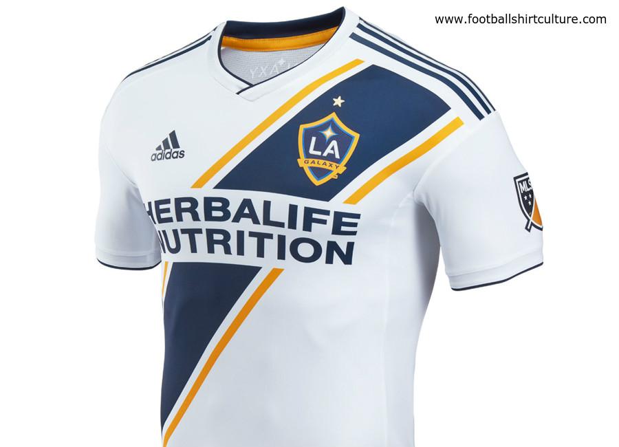 buy popular e4508 3db7d LA Galaxy 2018 Adidas home Kit | 17/18 Kits | Football shirt ...