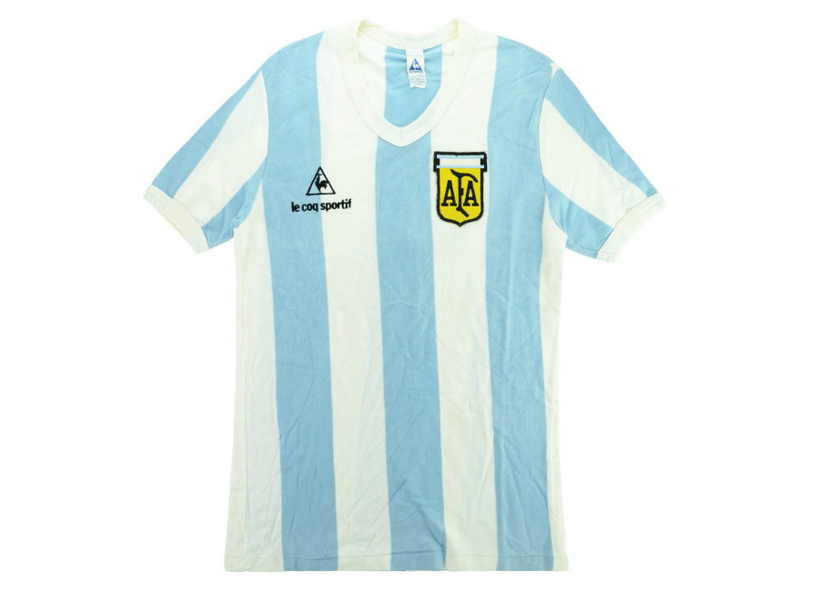 Le Coq Sportif 1981 Argentina U-18 Match Issue FIFA World Youth Championship Home Shirt