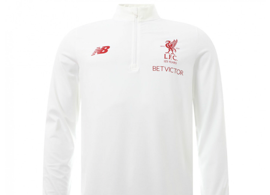 Liverpool 2018 New Balance White Motion Training Mid Layer Top
