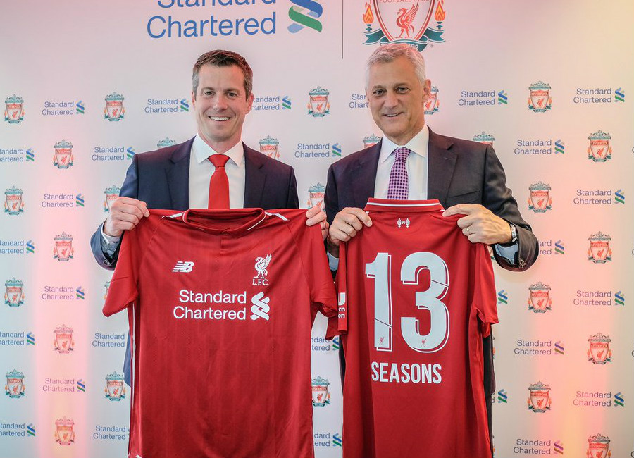 Liverpool Extend Standard Chartered Shirt Sponsorship Deal
