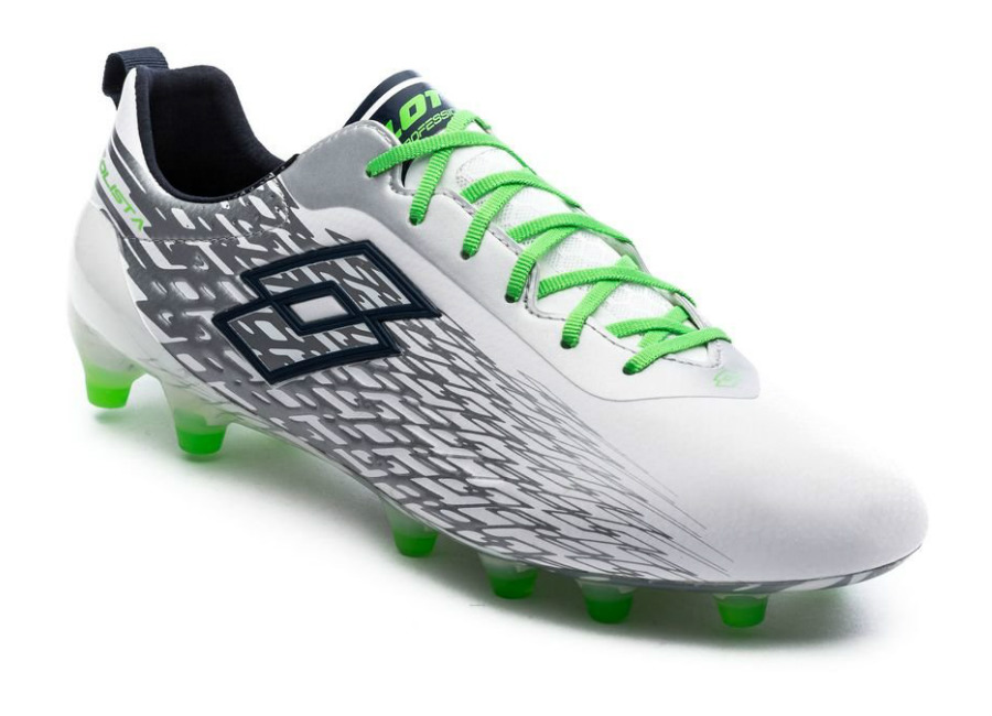 Lotto Solista 200 FG - White / Mint Fluo