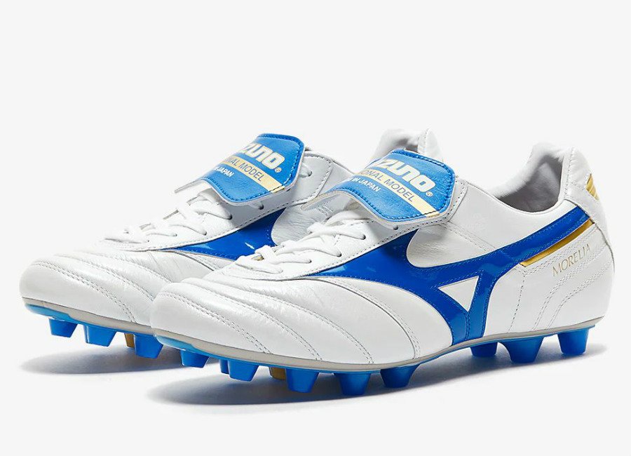 Mizuno Morelia II Made in Japan FG - White / Wave Cup Blue / Cyber Yellow
