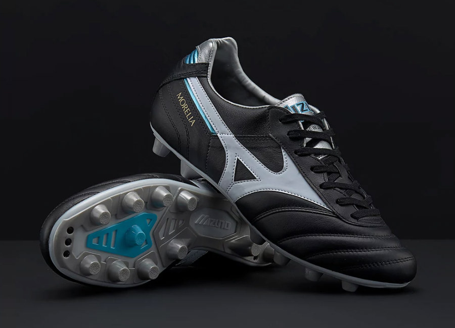 Mizuno Morelia II Made in Japan MD - Black / White / Blue Atoll