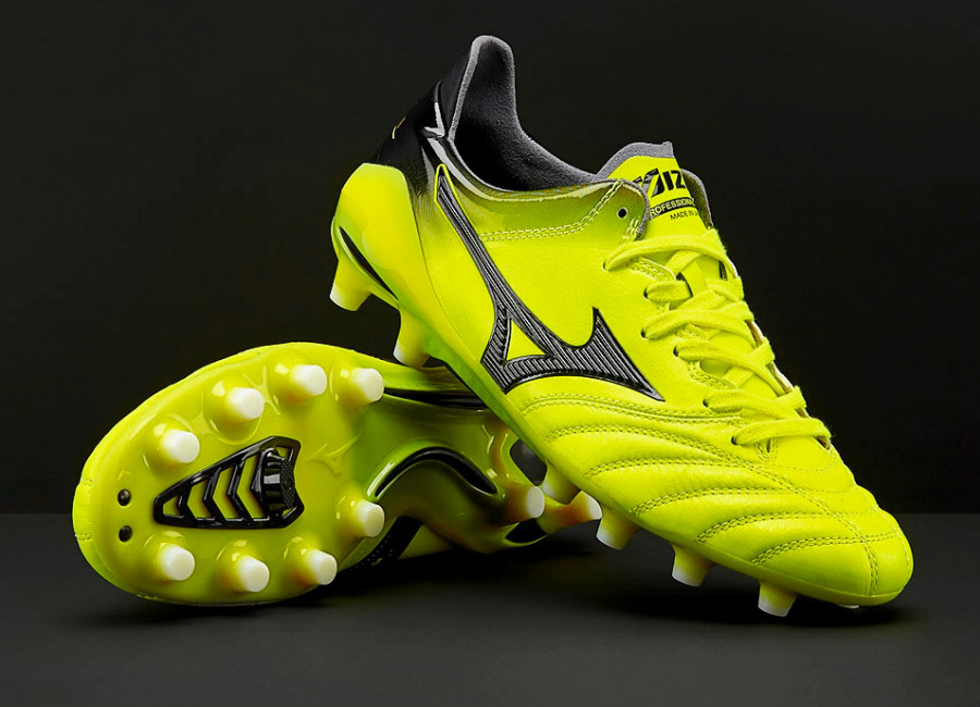 Mizuno Morelia Neo II Made in Japan MD - Safety Yellow / Black