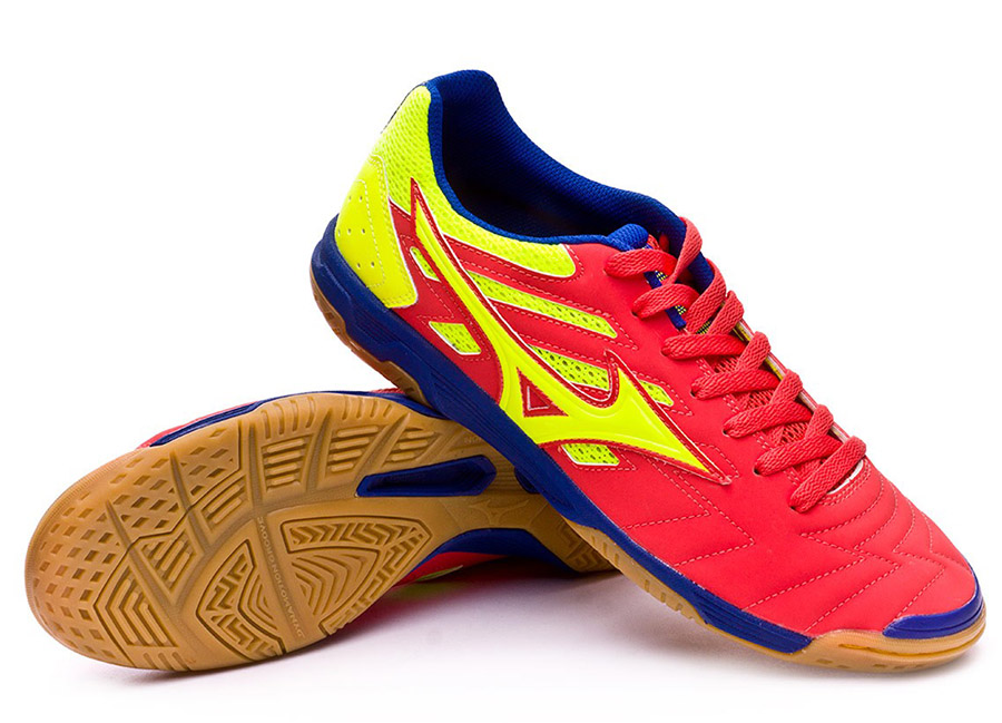Mizuno Sala Classic 2 IN - Coral / Safety Yellow / Surf the Web
