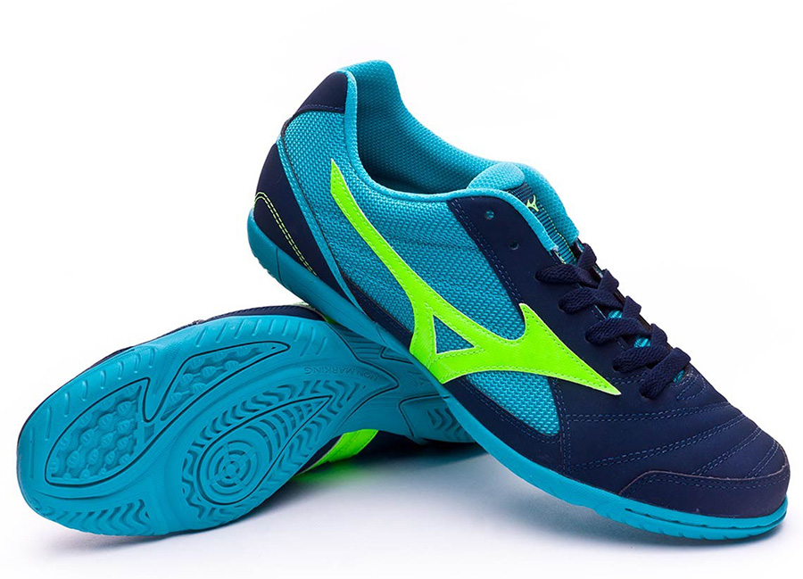 Mizuno Sala Club 2 IN - Deep Blue Sea / Green / Peacock Blue