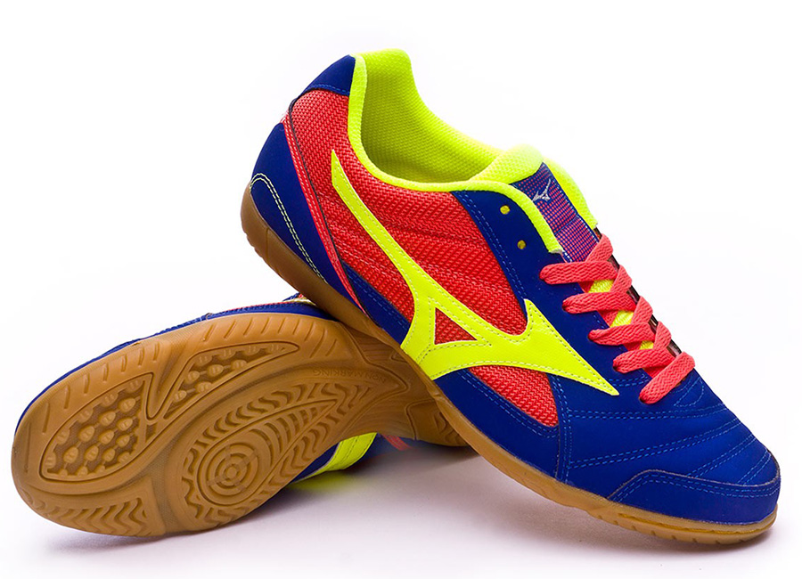 Mizuno Sala Club 2 IN - Surf The Web / Safety Yellow / Coral