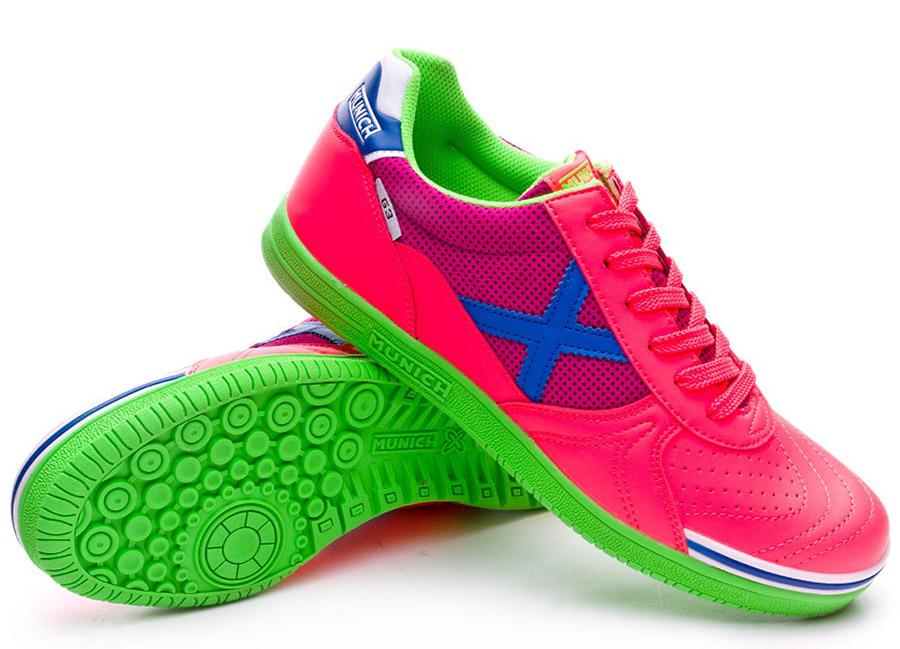 Munich G3 Shine Shoes - Fluor Pink / Green / Blue