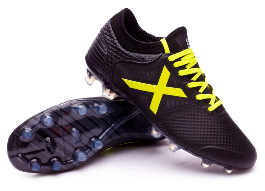 Munich Tiga FG Football Boots - Black / Yellow